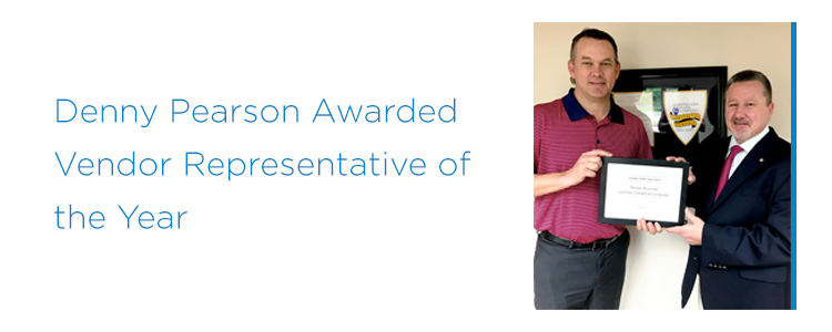 Denny Pearson Recognized as 2016 Olmsted-Kirk Vendor Representative of the Year
