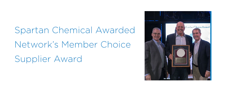 Spartan Chemical Awarded 2018 Member Choice Award Winner  by Network Services Company