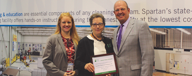 Spartan Chemical Recognized for Vision and Support of Green Cleaning in Schools