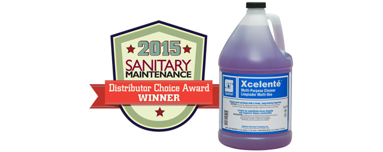 Xcelenté Selected as a 2015 Sanitary Maintenance Distributor Choice Award Winner!