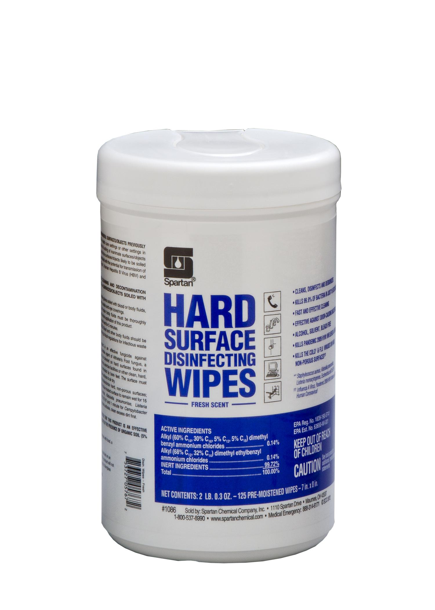 Fresh Scent Disinfectant Wipe,  125/Tub