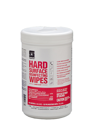 Hard Surface Disinfecting Wipes Lemon Scent (108506)