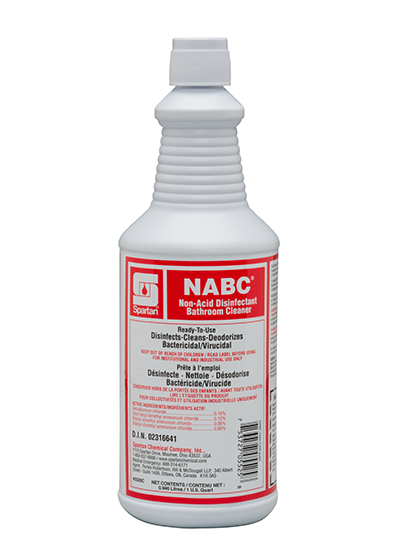 NABC® Non-Acid Disinfectant Bathroom Cleaner (Canada) (332003C)